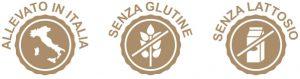 senza glutine senza lattosio allevato in italia